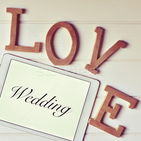 слов любви свадьба письма слово Сток-фото © nito