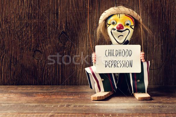 Eski kukla metin çocukluk yüz Stok fotoğraf © nito