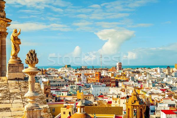 aerial view of Cadiz, Spain Stock photo © nito