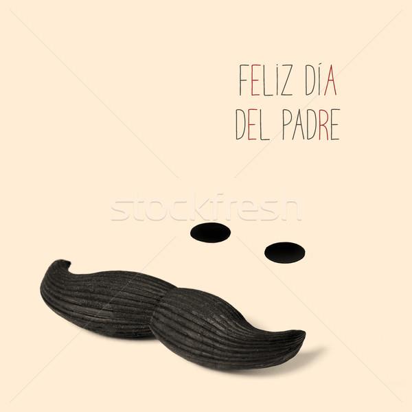 text feliz dia del padre, happy fathers day in spanish Stock photo © nito