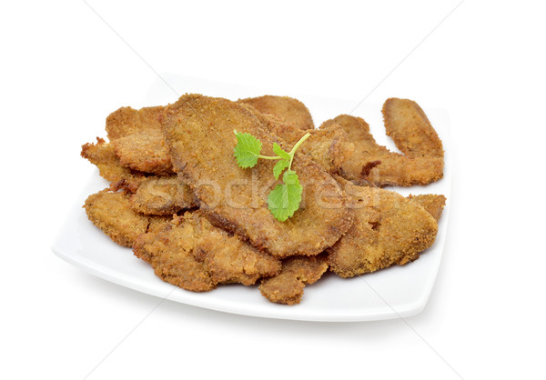cooked breaded fillets of seitan Stock photo © nito