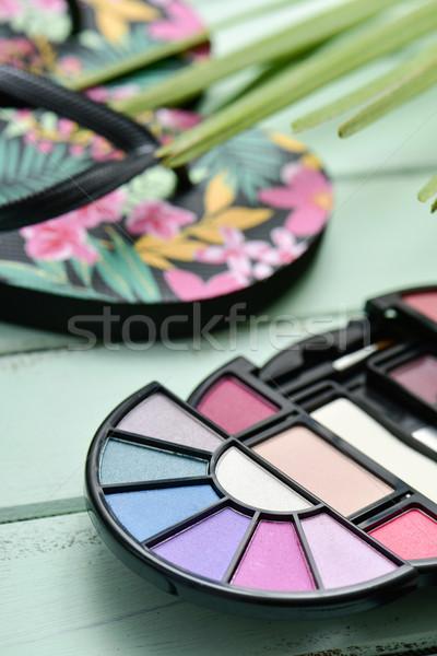 Szem árnyék paletta pálmalevél közelkép pár Stock fotó © nito