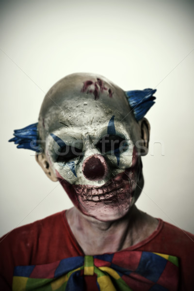 double exposure of a scary clown and a skull Stock photo © nito