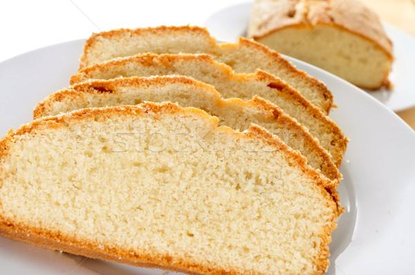 Prato fatias tabela café da manhã Foto stock © nito