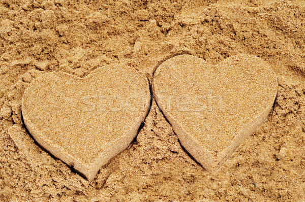 sand hearts Stock photo © nito