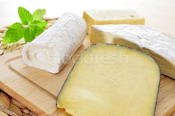 Kaas houten geitenkaas Stockfoto © nito