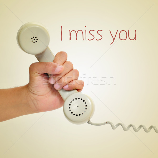 I miss you Stock photo © nito