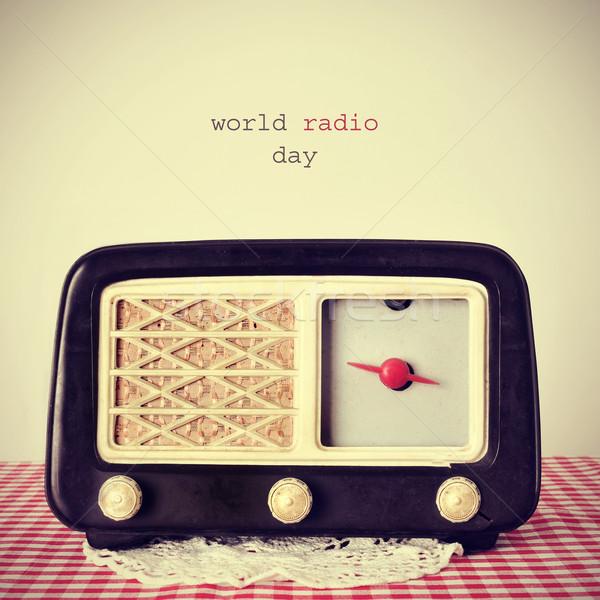 world radio day Stock photo © nito