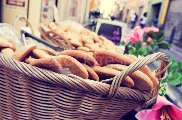 cookies on sale in a basket in Marseille, France Stock photo © nito