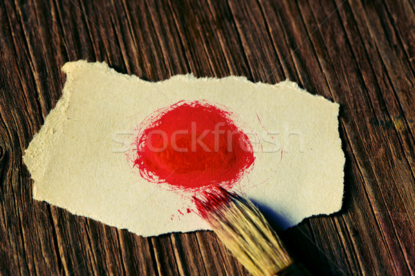 Japanese flag in a piece of paper Stock photo © nito