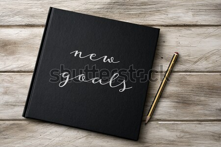 text planner 2017 in a notebook Stock photo © nito