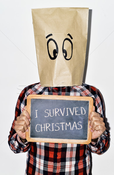 young man who survived christmas Stock photo © nito