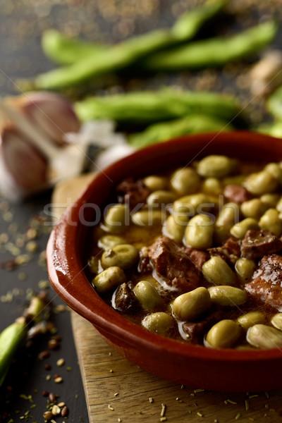 ラ スペイン語 レシピ 豆 クローズアップ ボウル ストックフォト © nito