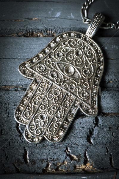 old hamsa amulet or hand of fatima Stock photo © nito