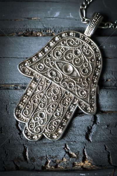 Starych amulet strony szary rustykalny Zdjęcia stock © nito