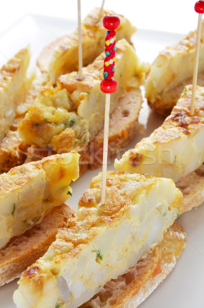 испанский плоская маисовая лепешка служивший хлеб пластина Сток-фото © nito
