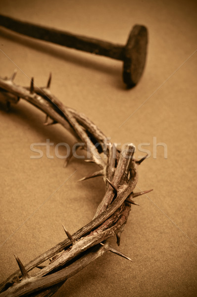 crown of thorns and nails Stock photo © nito