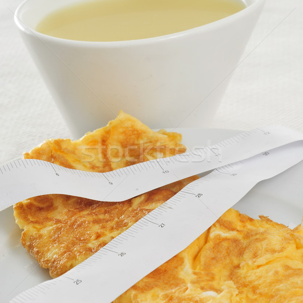 consomme and french omelette Stock photo © nito
