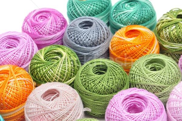 Croché hilo diferente colores blanco Foto stock © nito