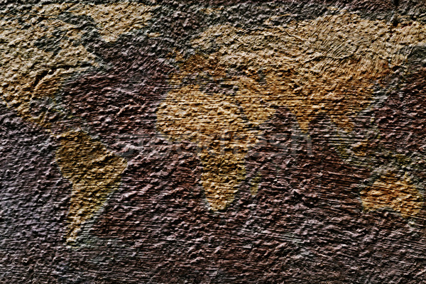 the world on a plastered wall Stock photo © nito