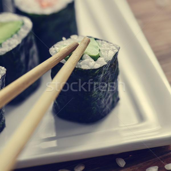 Tálca válogatás közelkép fehér kerámia különböző Stock fotó © nito