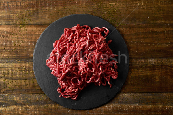 raw beef ground meat Stock photo © nito
