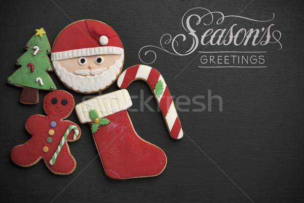 Christmas cookies tekst seizoenen verschillend Stockfoto © nito