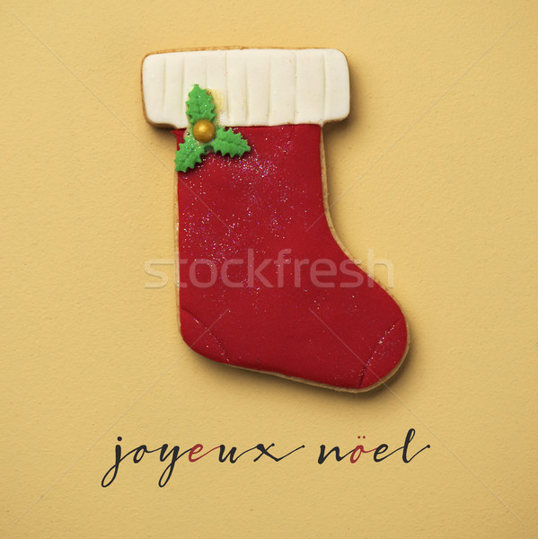 text joyeux noel, merry christmas in french Stock photo © nito
