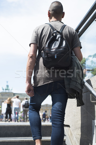 young man in front of the Brandenburg Gate Stock photo © nito