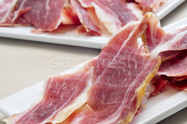 Serrano jambon tapas espagnol table Photo stock © nito