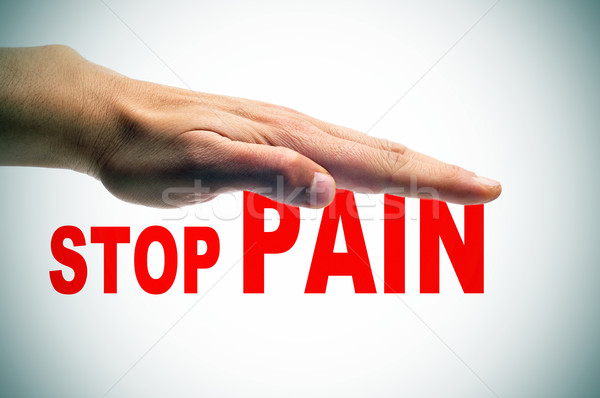 stop pain Stock photo © nito
