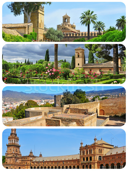 landmarks in Andalusia, Spain, collage Stock photo © nito