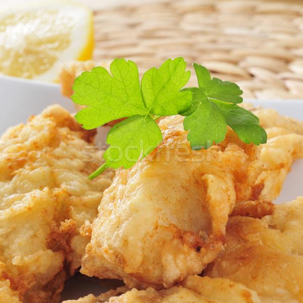 Leharcolt sült közelkép tányér étel étel Stock fotó © nito