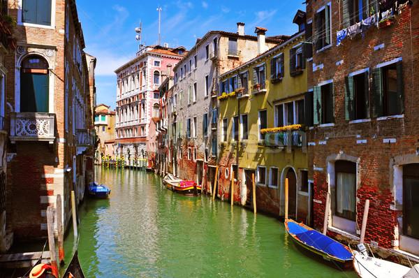 Venecia Italia vista secundario canal Río Foto stock © nito
