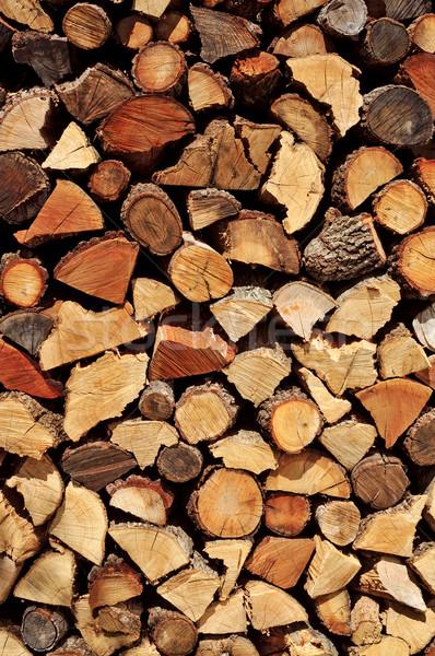 Brandhout gehakt hout bos energie Stockfoto © nito