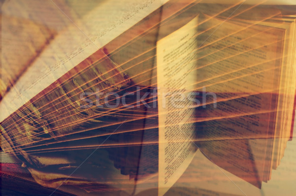 multiple exposure of books Stock photo © nito