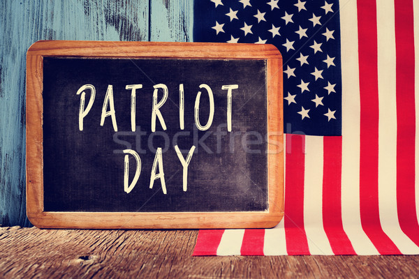 text Patriot Day in a chalkboard and the flag of the United Stat Stock photo © nito