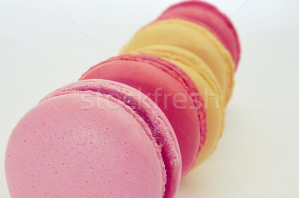 Macarons diverso sapori primo piano appetitoso pastello Foto d'archivio © nito