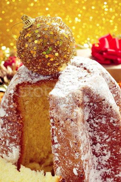pandoro, typical Italian sweet bread for Christmas time Stock photo © nito