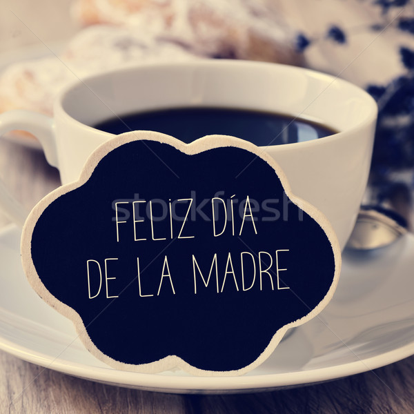 text feliz dia de la madre, happy mothers day in spanish Stock photo © nito