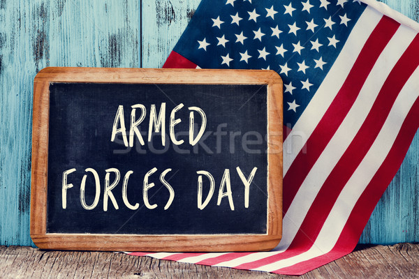 text armed forces day and flag of the United States Stock photo © nito