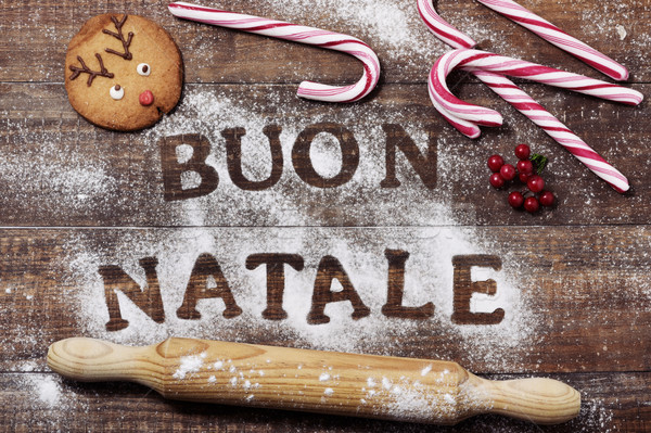 text buon natale, merry christmas in