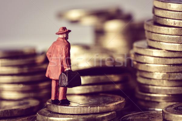 Minyatür gezgin euro madeni para Stok fotoğraf © nito