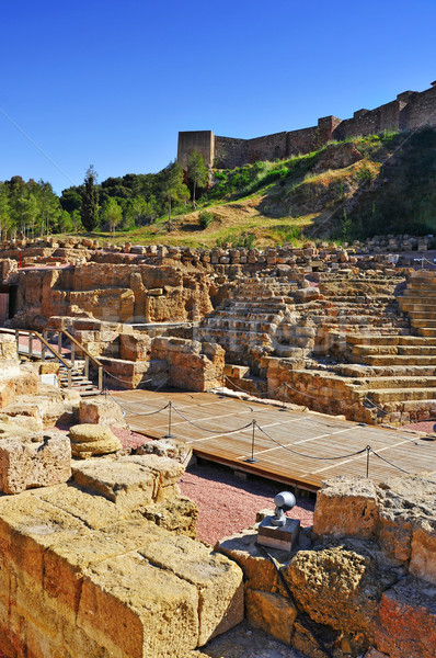 Roman Theater in Malaga, Spain Stock photo © nito
