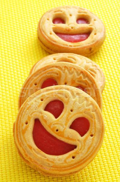 Печенье желтый счастливым фон Сток-фото © nito