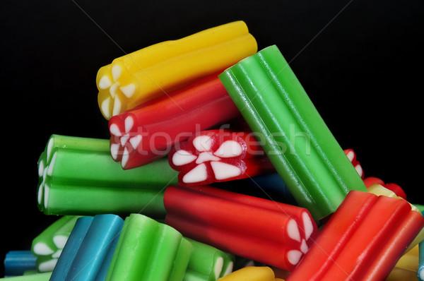 Medvecukor cukorkák köteg különböző színek fekete Stock fotó © nito