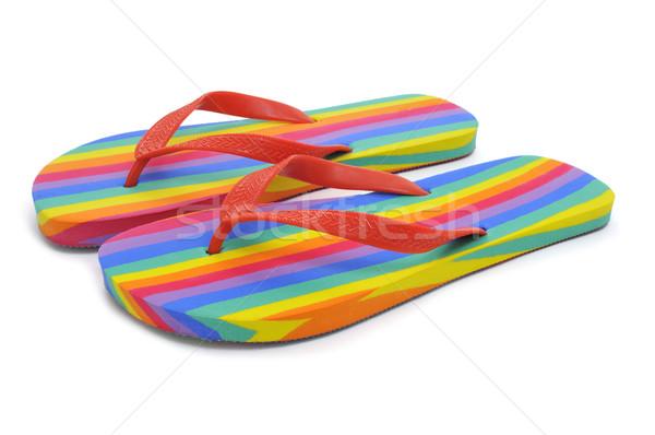 Regenboog paar achtergrond homo menselijke gemeenschap Stockfoto © nito