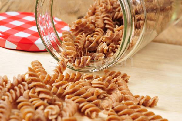 uncooked spelt fusilli Stock photo © nito