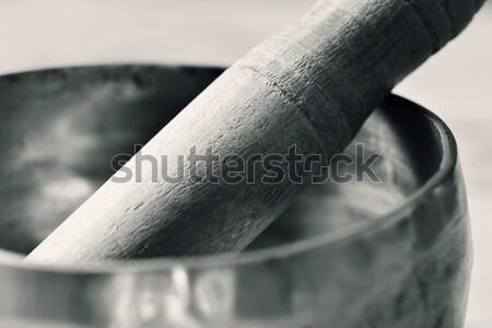 tibetan singing bowl in duotone Stock photo © nito
