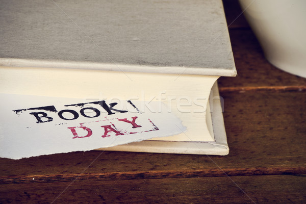 book and text book day in a piece of paper Stock photo © nito